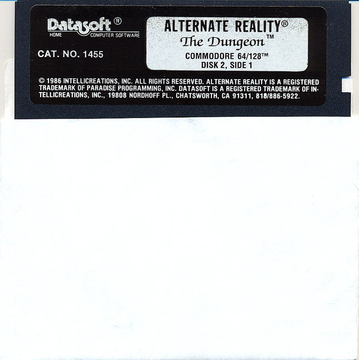 Alternate Reality: The Dungeon disk 2