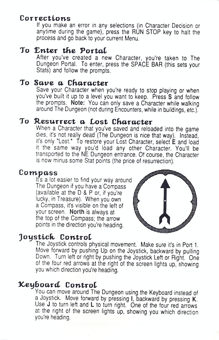 Alternate Reality: The Dungeon Getting started guide page 3
