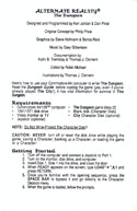 Alternate Reality: The Dungeon Getting started guide page 1