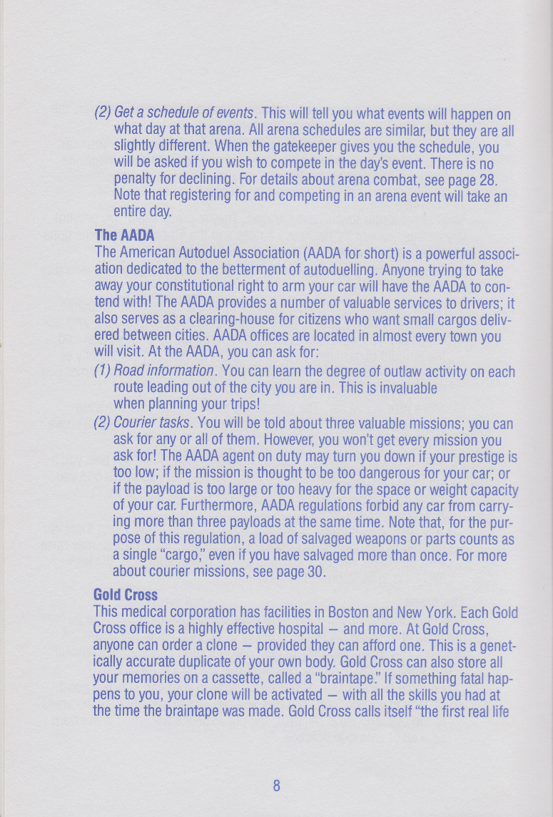 Autoduel manual page 8
