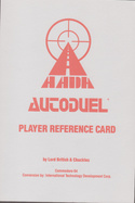 Autoduel reference card page 0
