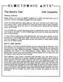 The Bard's Tale Getting Started Guide page 1