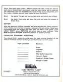 The Bard's Tale Getting Started Guide page 4
