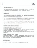 The Bard's Tale manual page 2