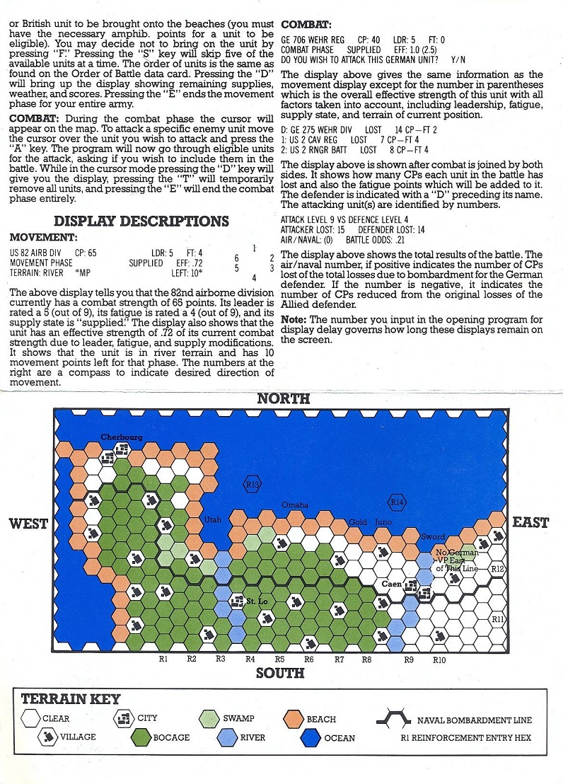 Battle for Normandy information card back