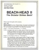 Beach-Head II manual page 1
