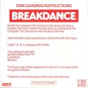 BREAKDANCE Disk Loading Instructions