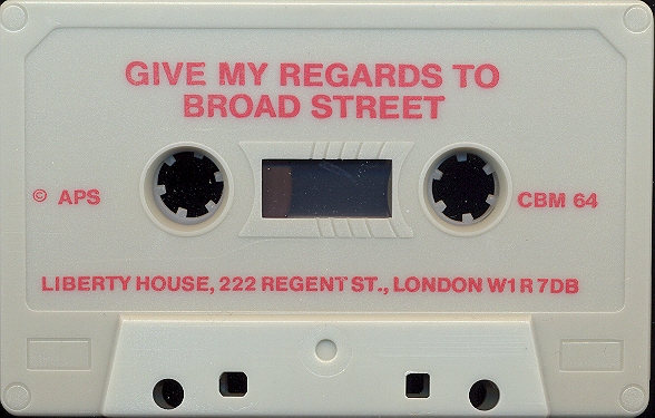 Give my Regards to Broad Street tape side a