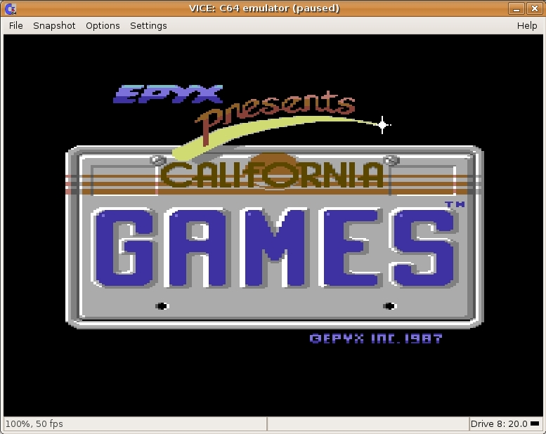 California Games Screen Shot 01