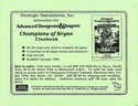 Champions of Krynn cluebook announcement