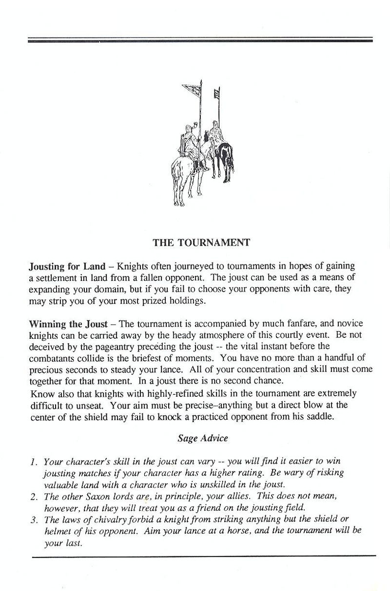 Defender of the Crown manual page 10