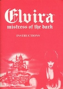 Elvira: Mistress of the Dark manual front cover