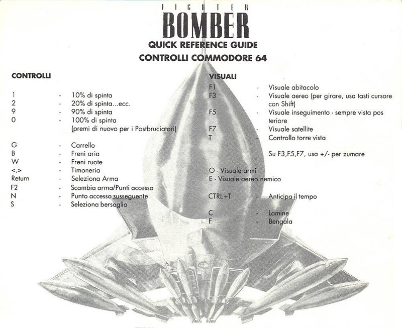 Fighter Bomber quick reference guide page 4