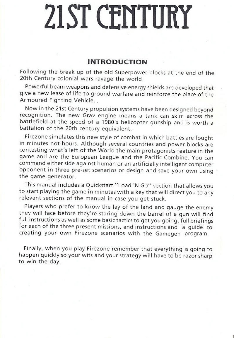 FireZone The Players Guide page 1