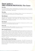 The Fourth Protocol Manual Page 2