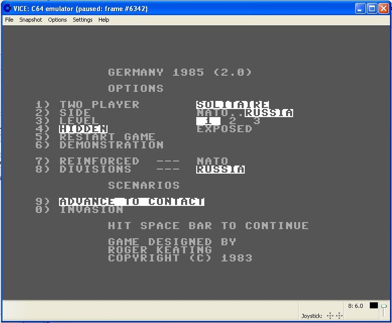 Germany 1985 Screen Shot 2