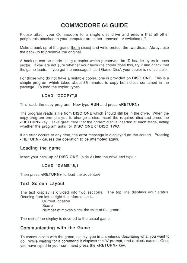 The Guild of Thieves Adventure Guide page 2