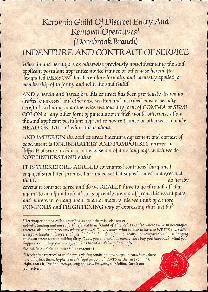 The Guild of Thieves contract