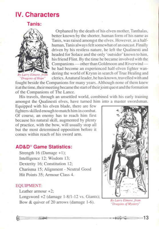 Heroes of the Lance Manual Page 13