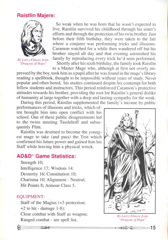 Heroes of the Lance Manual Page 15