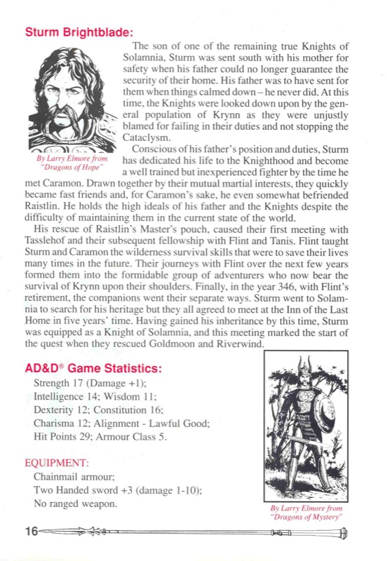 Heroes of the Lance Manual Page 16