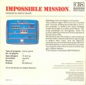 Impossible Mission Box Back