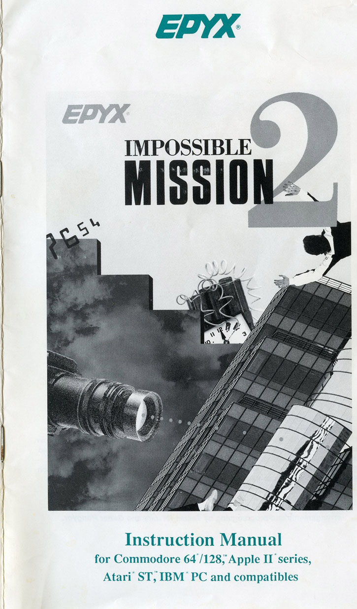 Impossible Mission 2 manual front cover