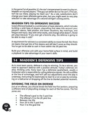 John Madden Football manual page 54