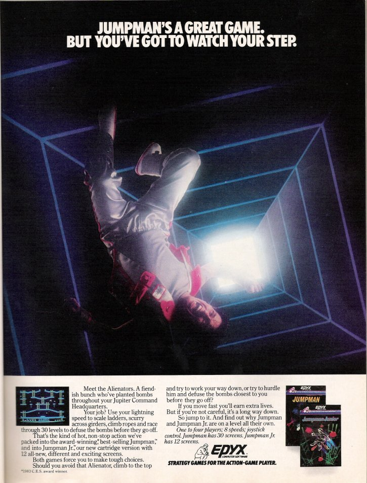 Jumpman COMPUTE!'s Gazette Ad: February 1984