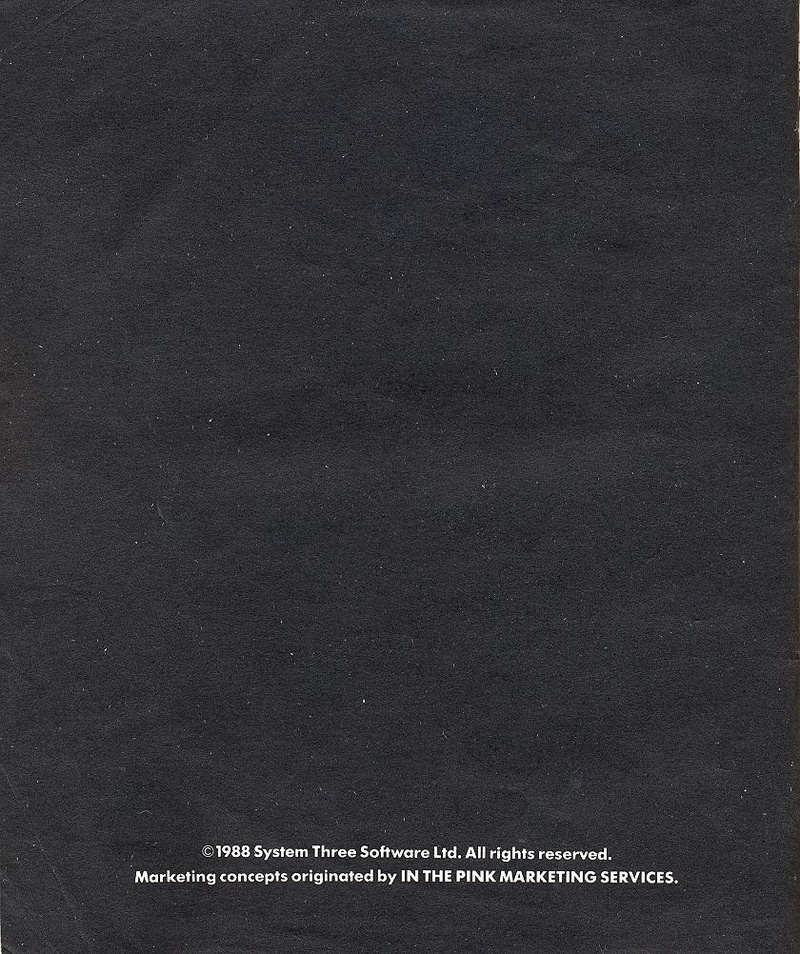 Last Ninja 2 manual back cover