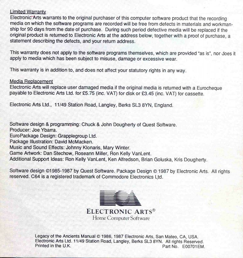 Legacy of the Ancients Manual Page 8