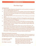 Mars Saga getting started guide page 1