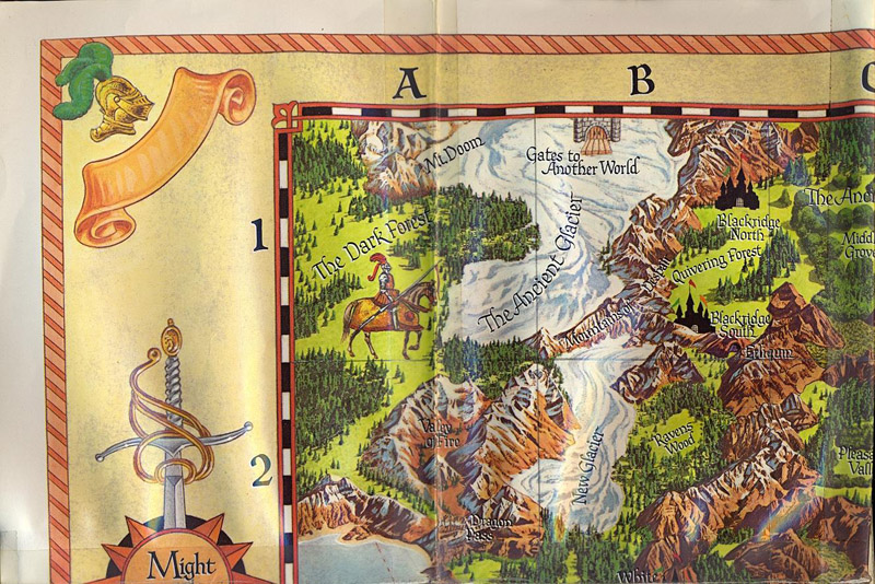 Might and Magic map top left