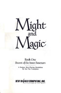 Might and Magic manual title page