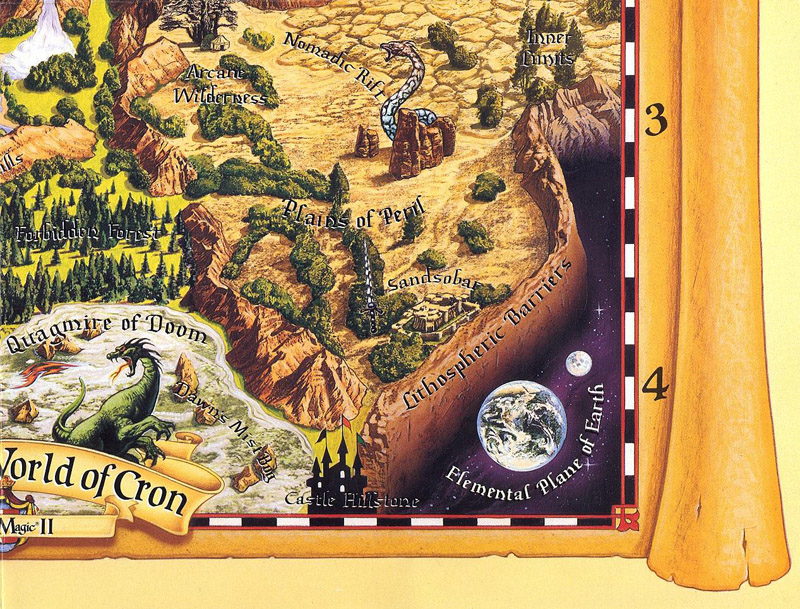 Might and Magic II map bottom right