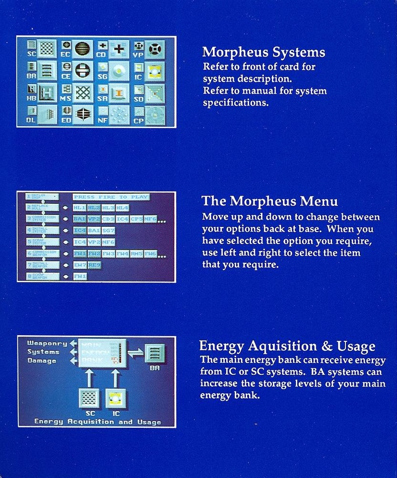 Morpheus system reference card page 2