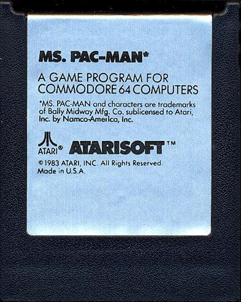Ms. Pac-Man cartridge