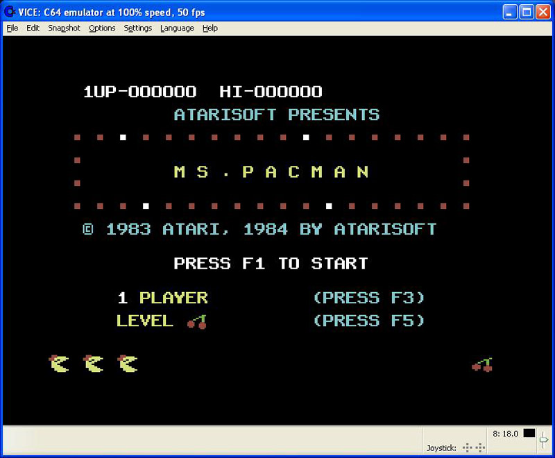 Ms. Pac-Man screen shot 1