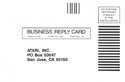 Ms. Pac-Man business reply card 1