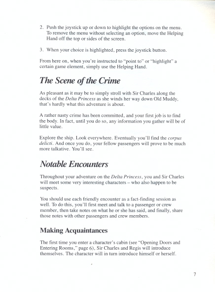 Murder on the Mississippi Adventurers Guidebook page 7