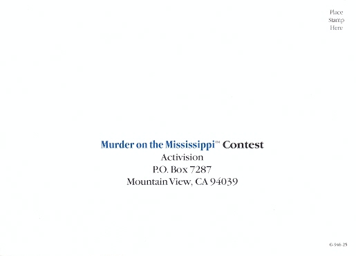 Murder on the Mississippi Postcard 4