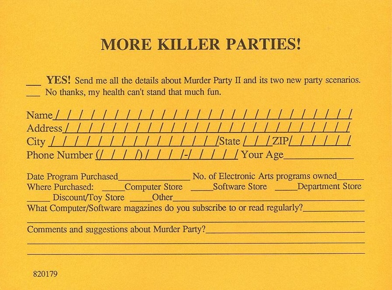 Make Your Own Murder Party postcard front