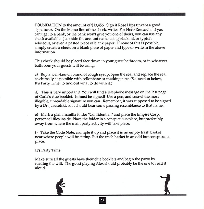 Make Your Own Murder Party manual page 28