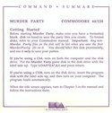 Make Your Own Murder Party command summary page 1