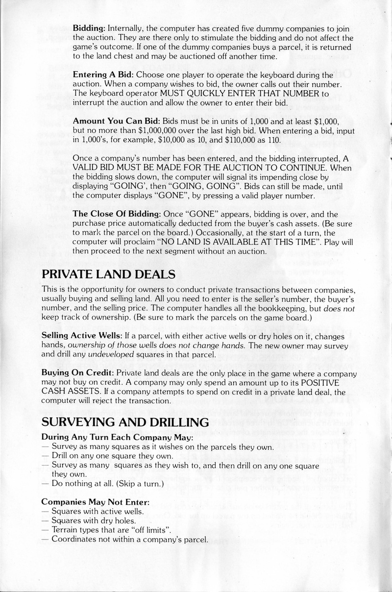 Oil Barons manual page 5