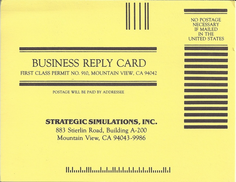 c64sets.com : Panzer Grenadier business reply card front