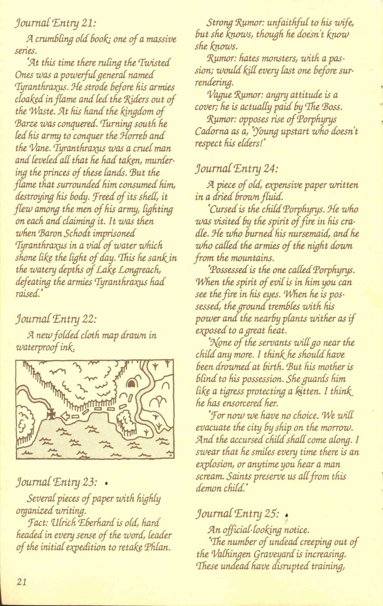 Pool of Radiance Adventurers Journal Page 21