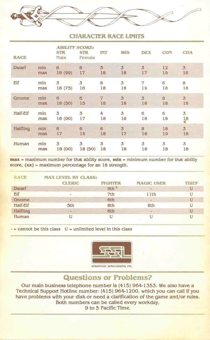 Pool of Radiance Manual Page 29