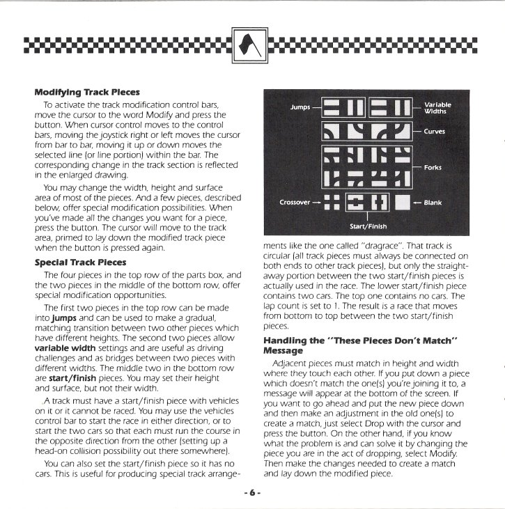 Racing Destruction Set Manual Page 6