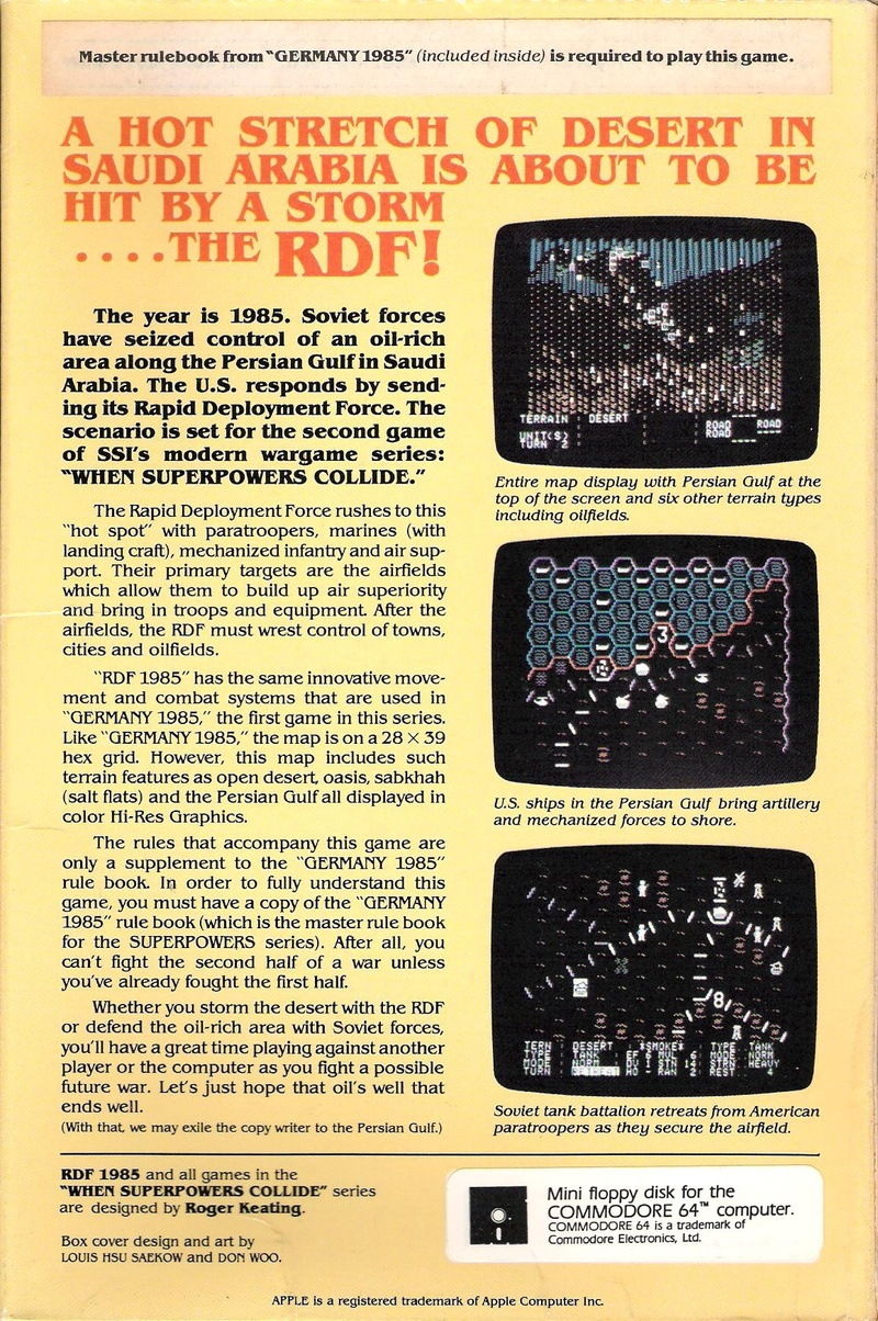 RDF 1985 Box Back